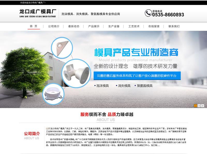 龙口网站建设:龙口市成广模具厂