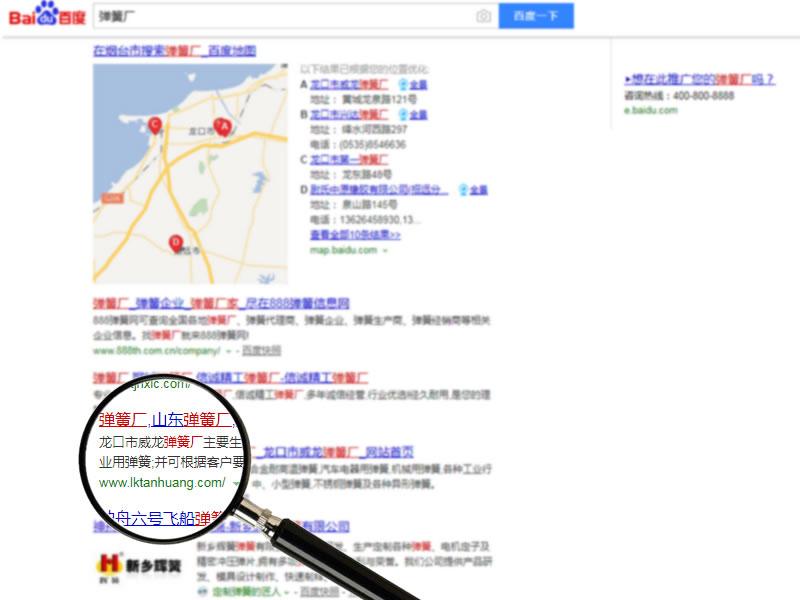 网站排名案例:威龙弹簧--弹簧厂